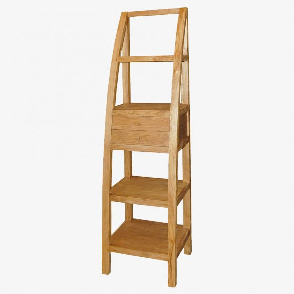 Book Rack Triangle 2 Drawers Teckococo Wooden Furniture