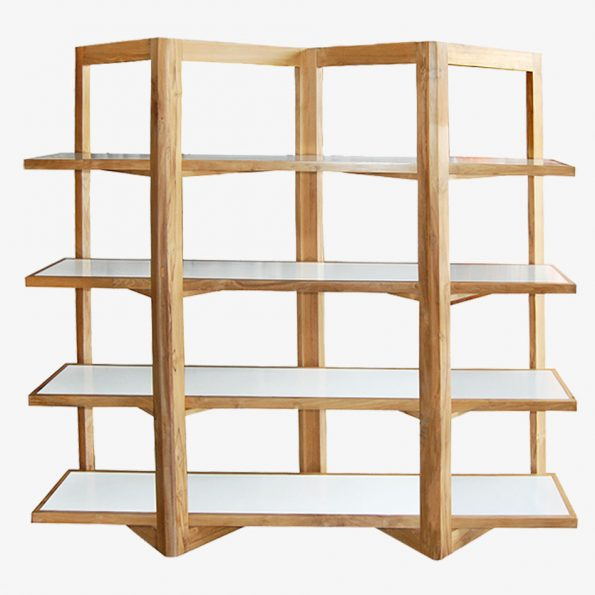 Book Rack W Large Teckococo Wooden Furniture
