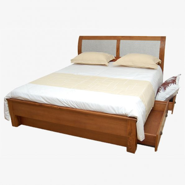 Bed Kim w/4 Drawers Teckococo Wooden Furniture