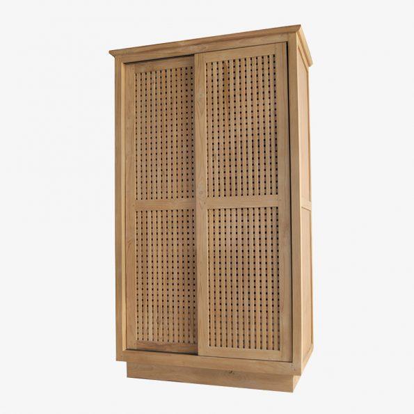 Wardrobe Caibotti w/2 Sliding Doors Teckococo Wooden Furniture
