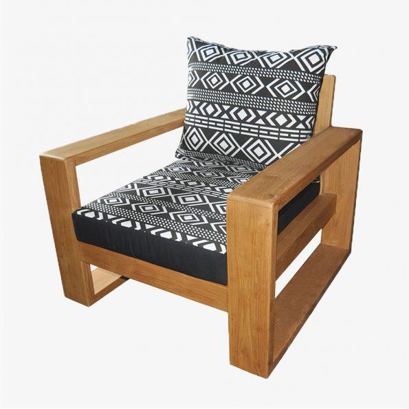 Sofa Singa Single Teckococo Wooden Furniture