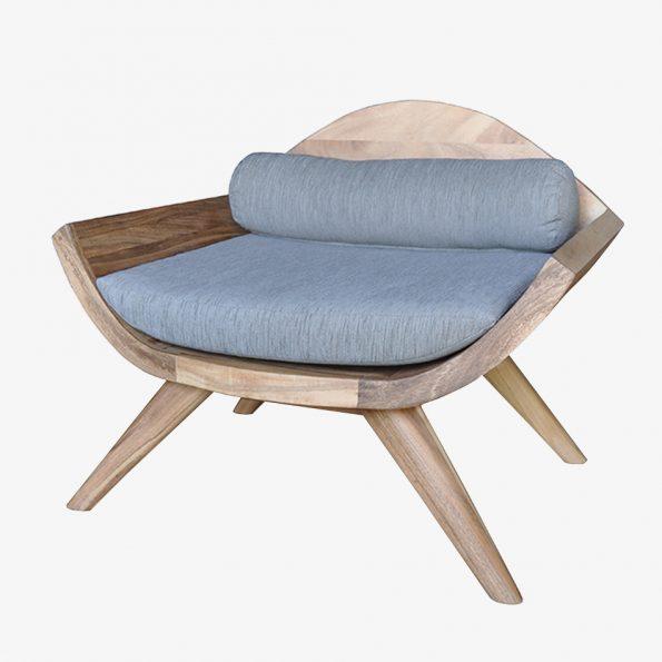 Sofa Daun Single Teckococo Wooden Furniture