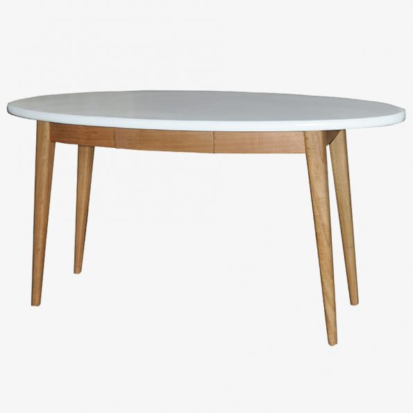 Console Oval Teckococo Wooden Furniture