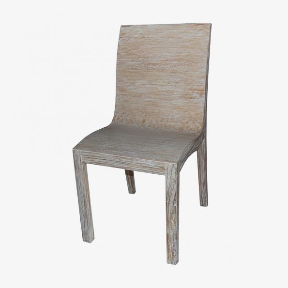 Rosa Chair White Wash Teckococo Wooden Furniture