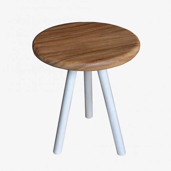 Side Table Selatan Round Bubut Teckococo Wooden Furniture