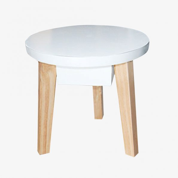 Side table Mika Round Teckococo Wooden Furniture