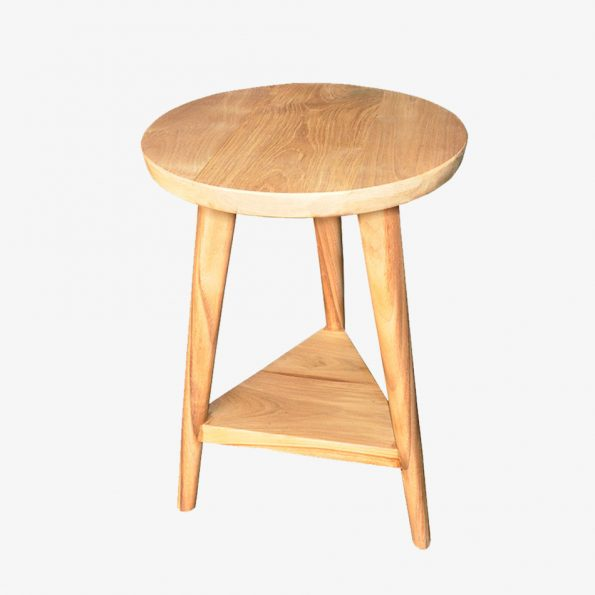 Side table Tri Round Teckococo Wooden Furniture