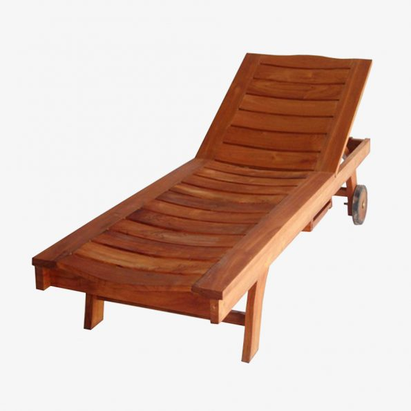 Long Chair Lengkung Sunbed Teckococo Wooden Furniture
