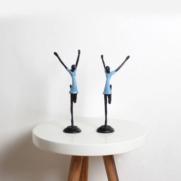 Resin Sculpture Balet Abstrak Teckococo Wooden Furniture
