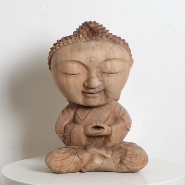 Wood Sculpture Baby Budha Teckococo Wooden Furniture