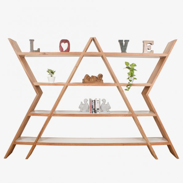 Book Rack Curva Rack Alpha Teckococo Wooden Furniture