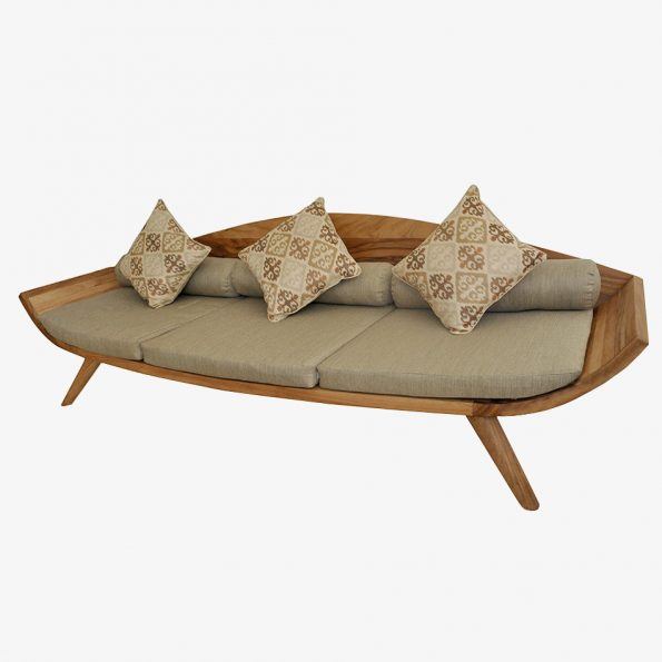 Sofa Daun 3 Seater Teckococo Wooden Furniture