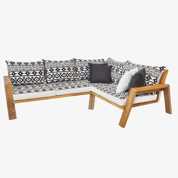 Africa L-Shape Teckococo Wooden Furniture
