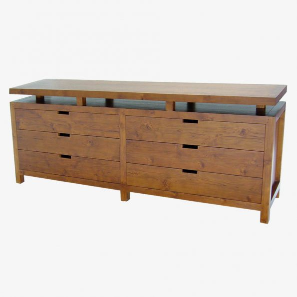 Chest Rattan Large w/6 Drawers Teckococo Wooden Furniture
