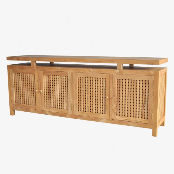 Chest Caibotti w/4 Doors Teckococo Wooden Furniture