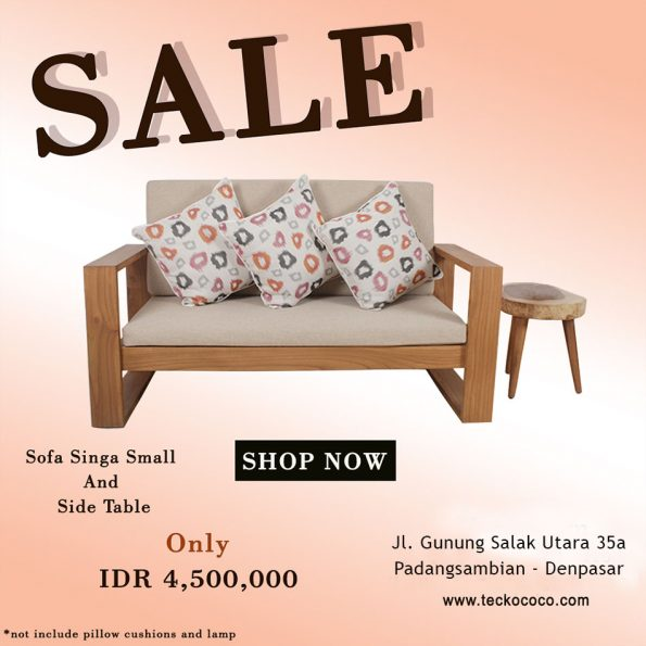 Sofa Singa Small Set Teckococo Wooden Furniture